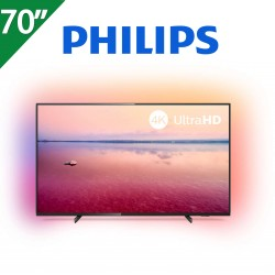 "TELEVISOR PHILIPS 70"" 4K UHD. SMART TV. AMBILIGHT 3 LADOS"