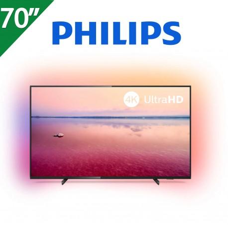 "TELEVISOR PHILIPS 70"" 4K UHD. SMART TV. AMBILIGHT 3 LADOS"