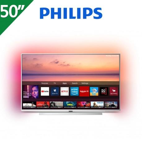 "TV PHILIPS 50"" 4K UHD. SMART TV. AMBILIGHT 3 LADOS"