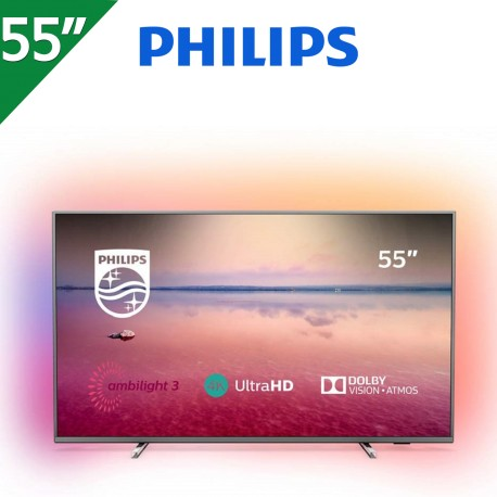"TV PHILIPS 55"" 4K UHD. SMART TV. AMBILIGHT 3 LADOS"