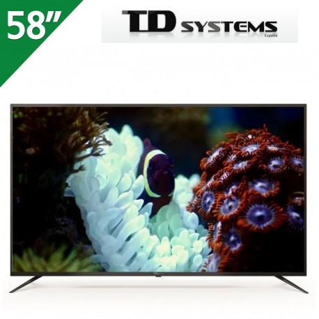 """TELEVISOR TD SYSTEMS 58"""" 4K ULTRA HD, SMART ANDROID 9.0 BLUETOOTH"""